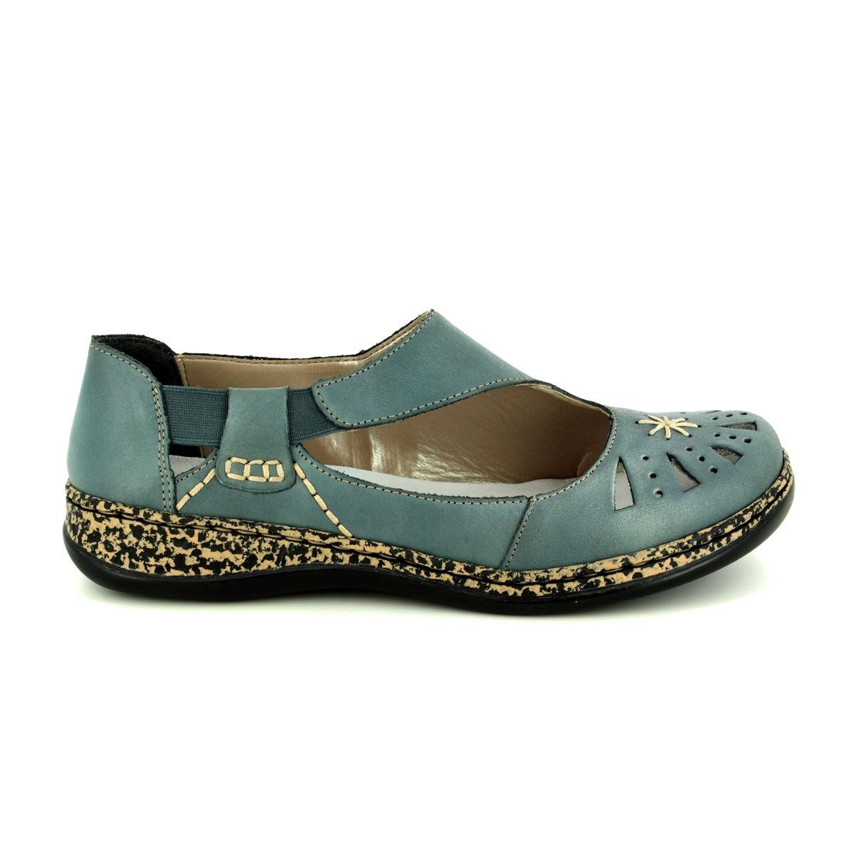 7290adc964 Rieker Mary Jane Shoes - Denim blue - 46315-12 DAISROTO