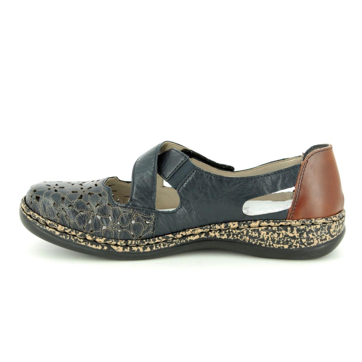Rieker women slip on shoe blue 463H4 14