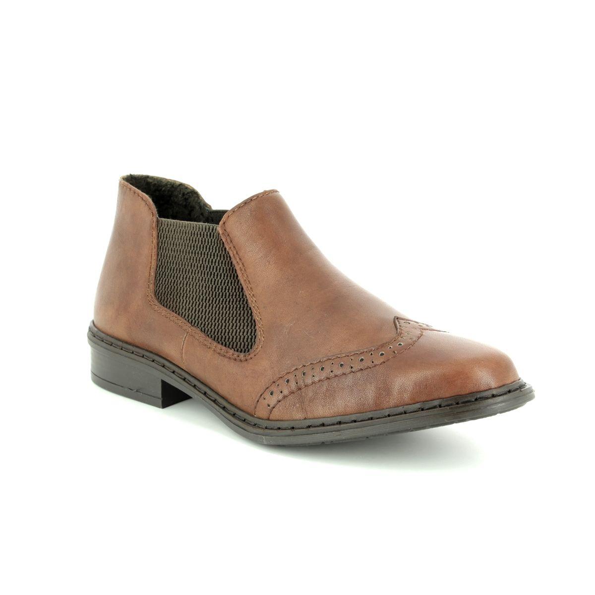 c7ad1a3b48d9cd Rieker Chelsea Boots - Brown - 52093-22 WEAVER