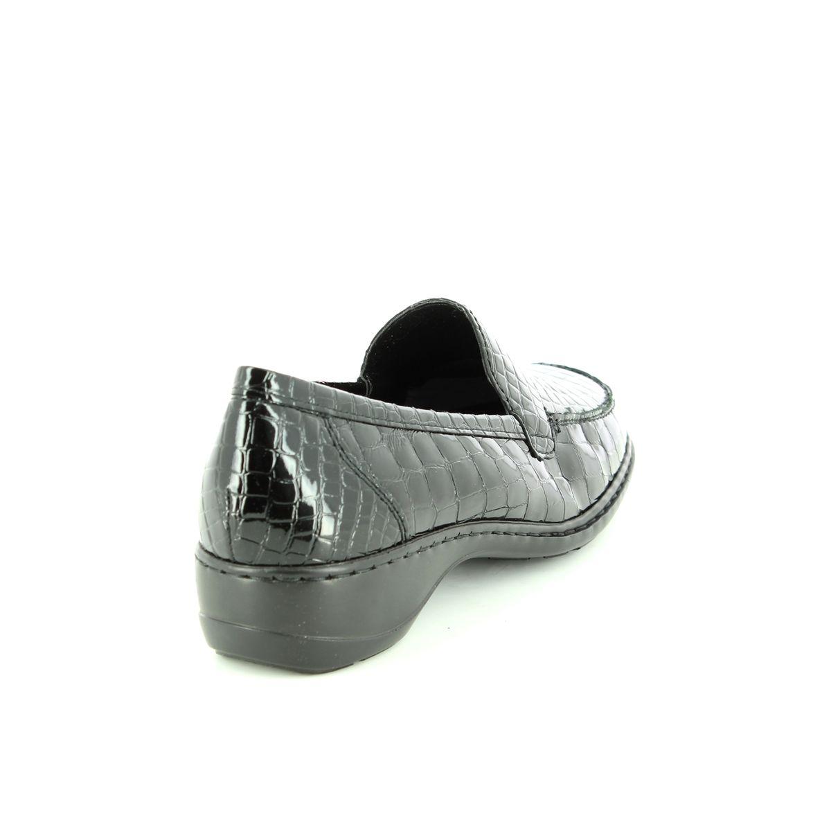 b30a022485ad Rieker Comfort Shoes - Black croc - 583A0-00 DORTESSA