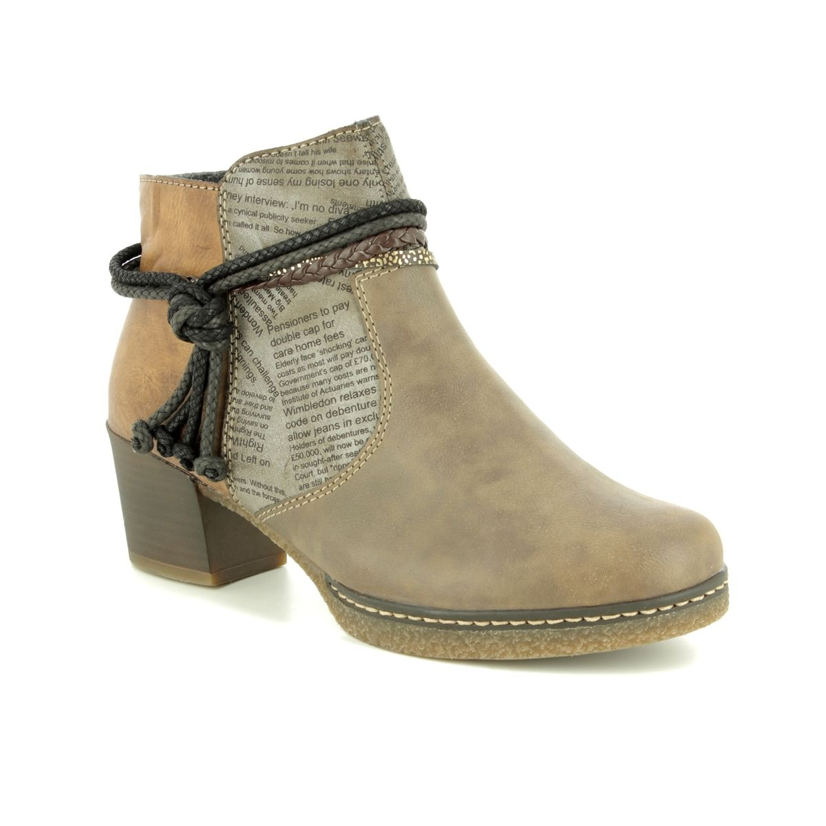be5109b1f88d Rieker Ankle Boots - Taupe multi - 59098-64 LILYISH
