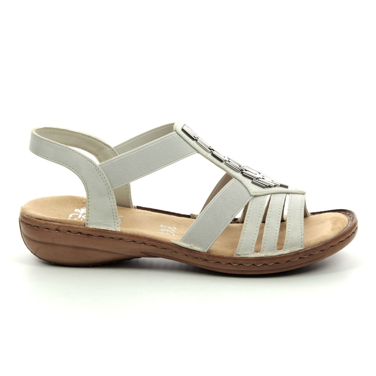 c37d4d2d8815 Rieker Sandals - Off white - 60800-80 REGICHIME