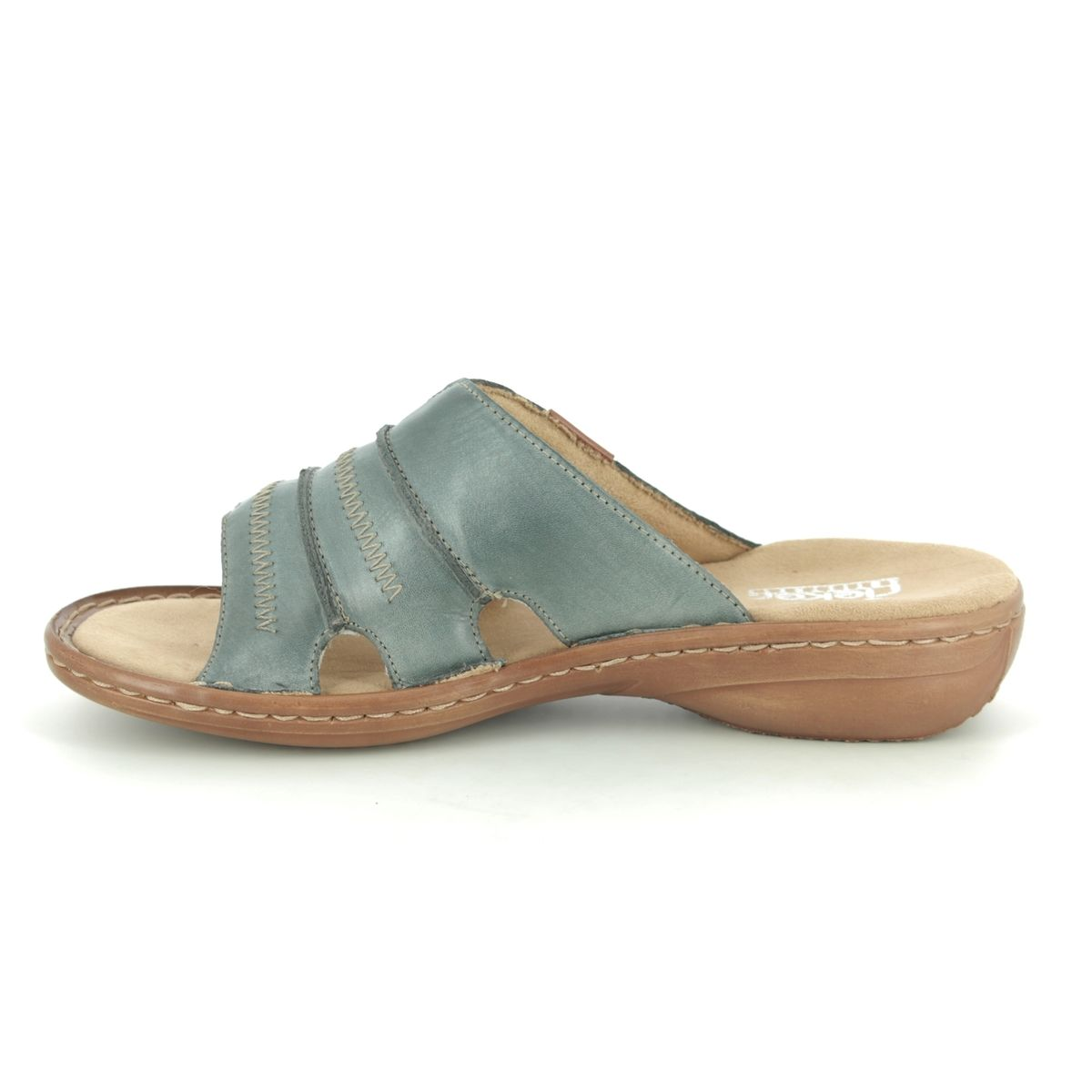 spätester Verkauf Kauf echt Online-Verkauf Rieker 60876-12 Denim blue Slide Sandals