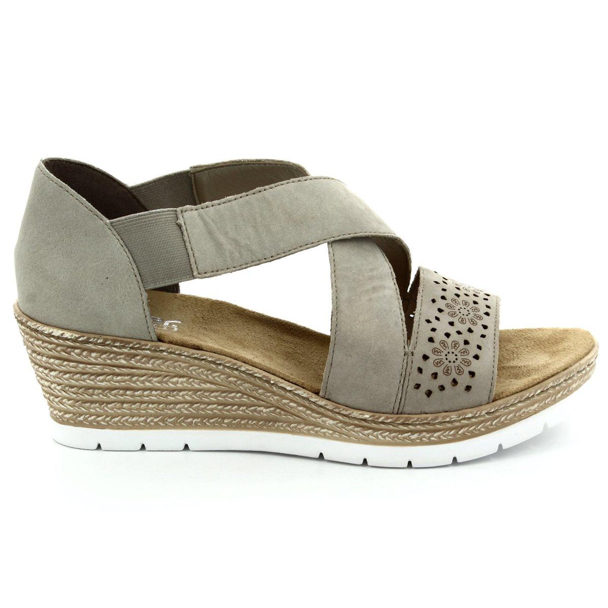 rieker 61976 42 beige sandals. Black Bedroom Furniture Sets. Home Design Ideas