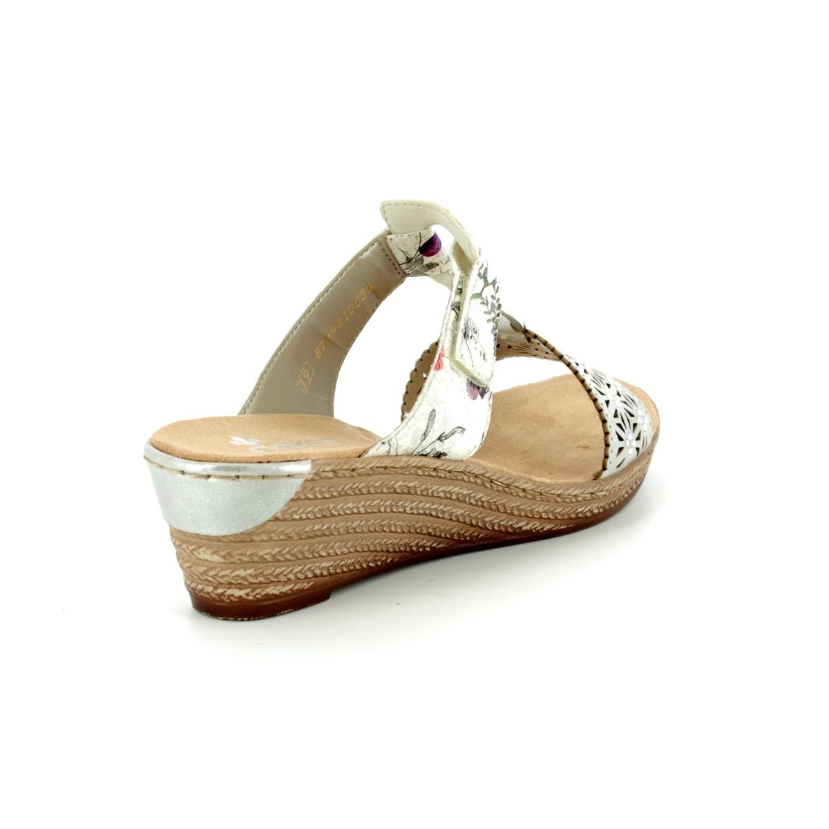 f39fd73d2 Rieker Wedge Sandals - Various - 62427-80 FAWMULE