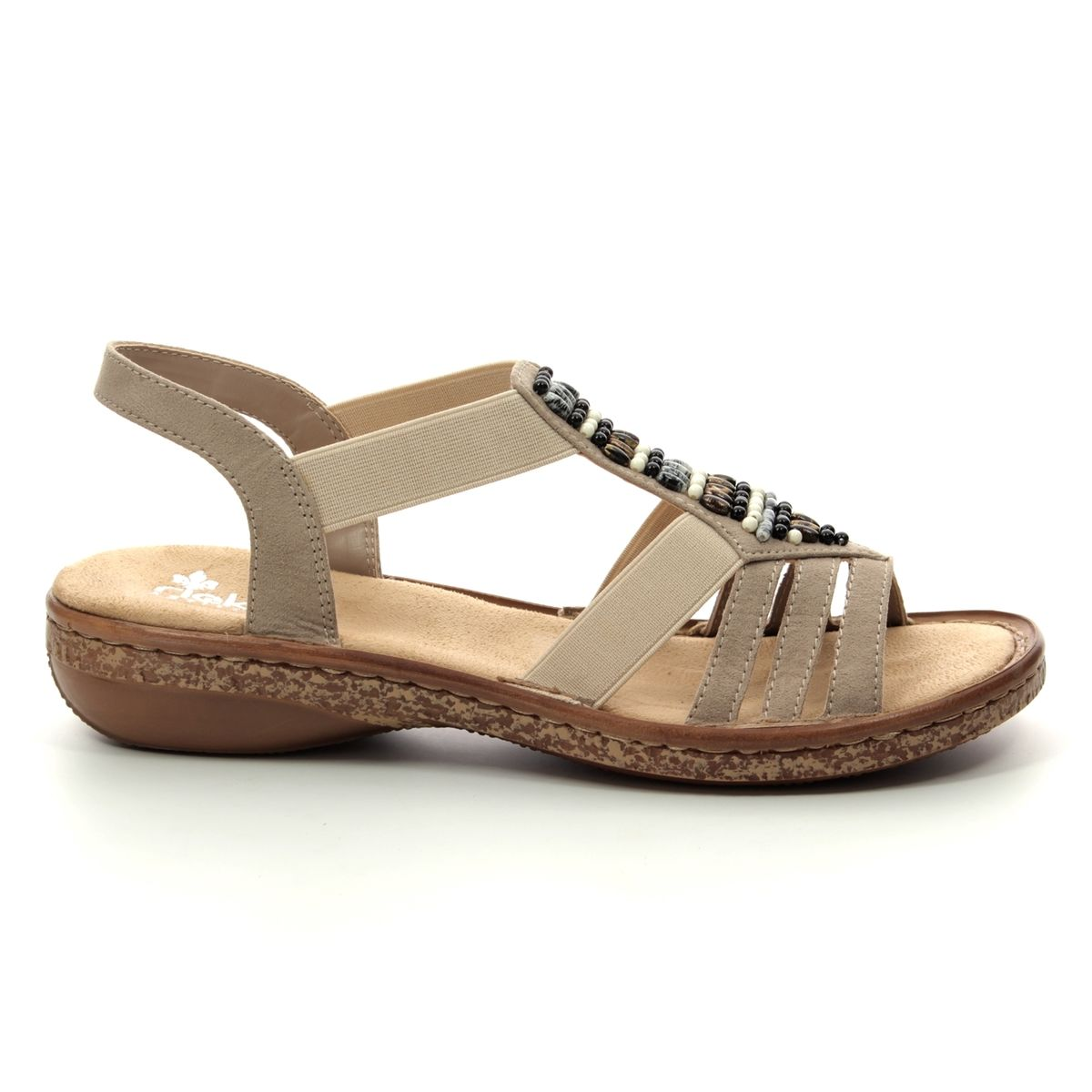 1829e20e467c Rieker Sandals - Beige - 62851-60 REGIBEADS