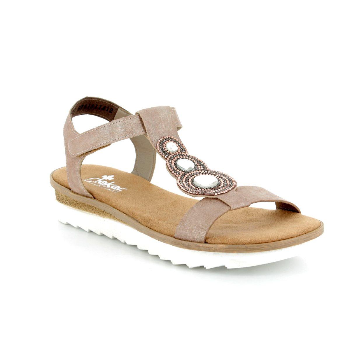 2fb89593c Rieker Sandals - Pink - 63184-62 TIDE