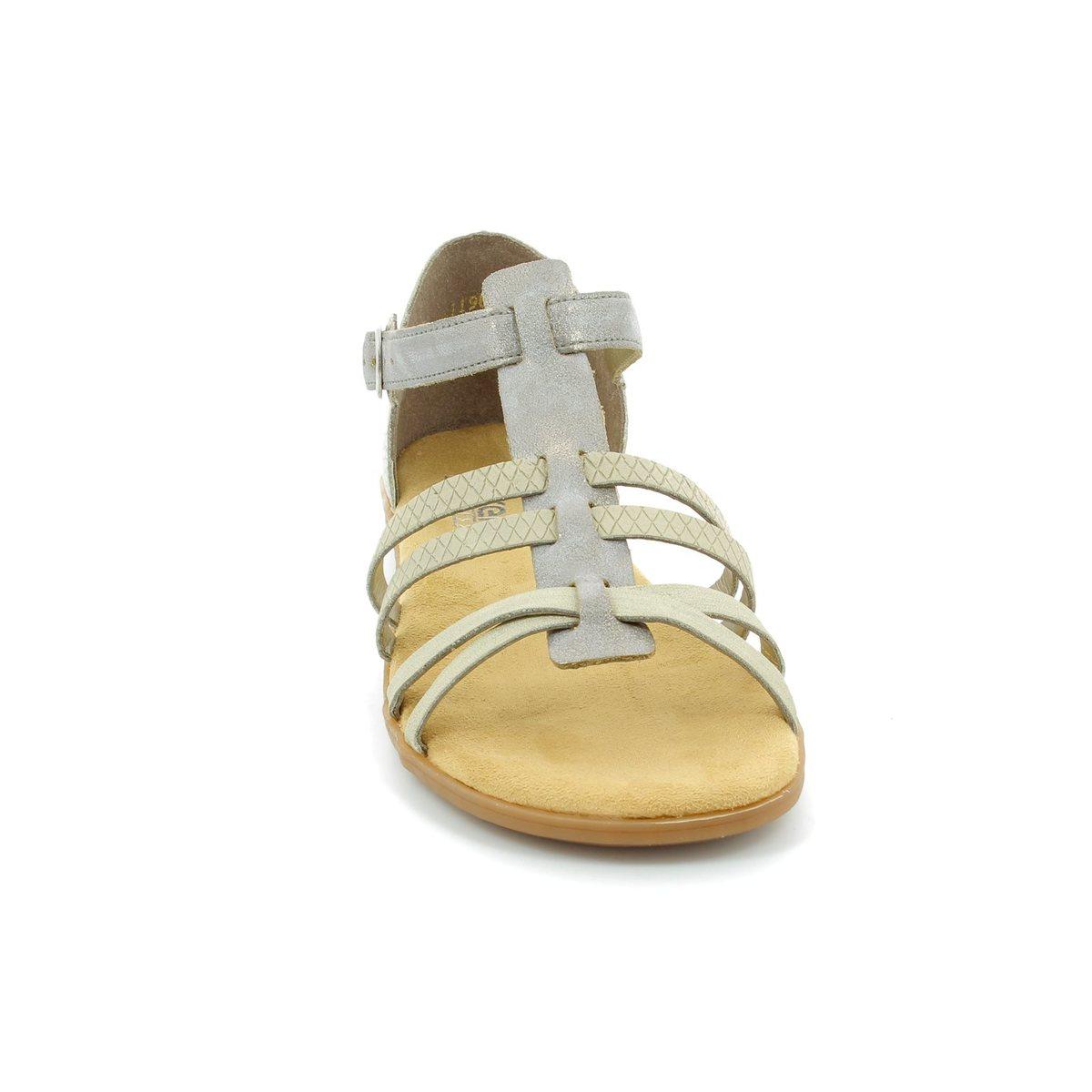 rieker 64288 40 beige multi sandals. Black Bedroom Furniture Sets. Home Design Ideas