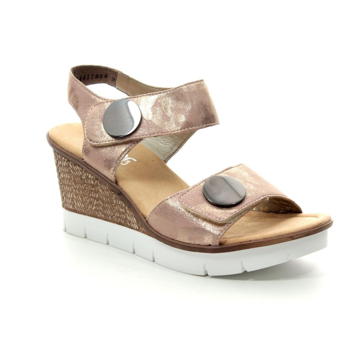 278e417806 Rieker Wedge Sandals - ROSE - 65569-31 ALTON