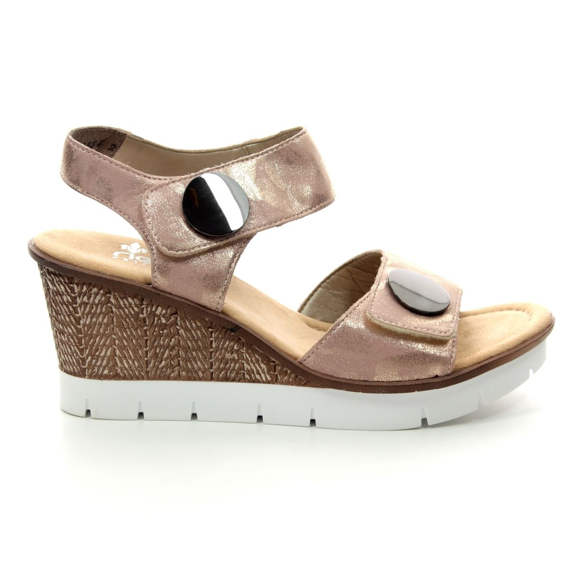 d59e48fcffd1 Rieker Wedge Sandals - ROSE - 65569-31 ALTON