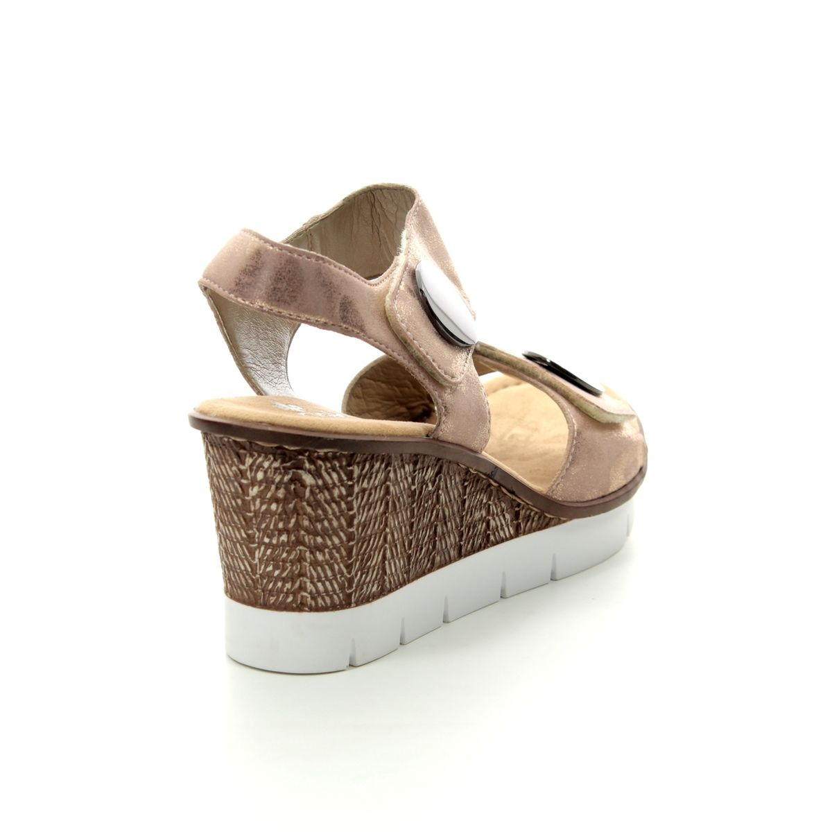 58e73ff2000 Rieker Wedge Sandals - ROSE - 65569-31 ALTON