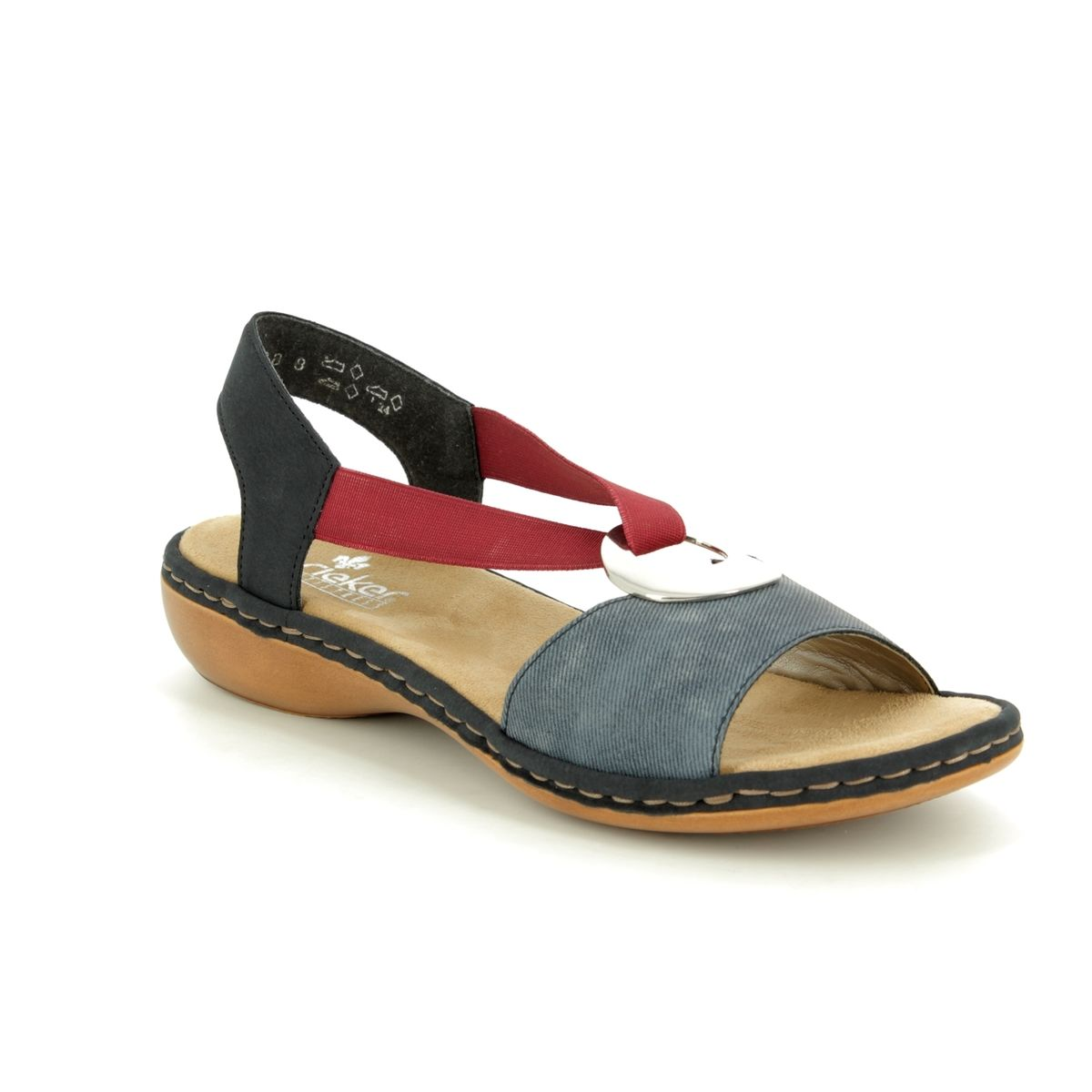 Rieker 659Q9-14 Navy multi sandals