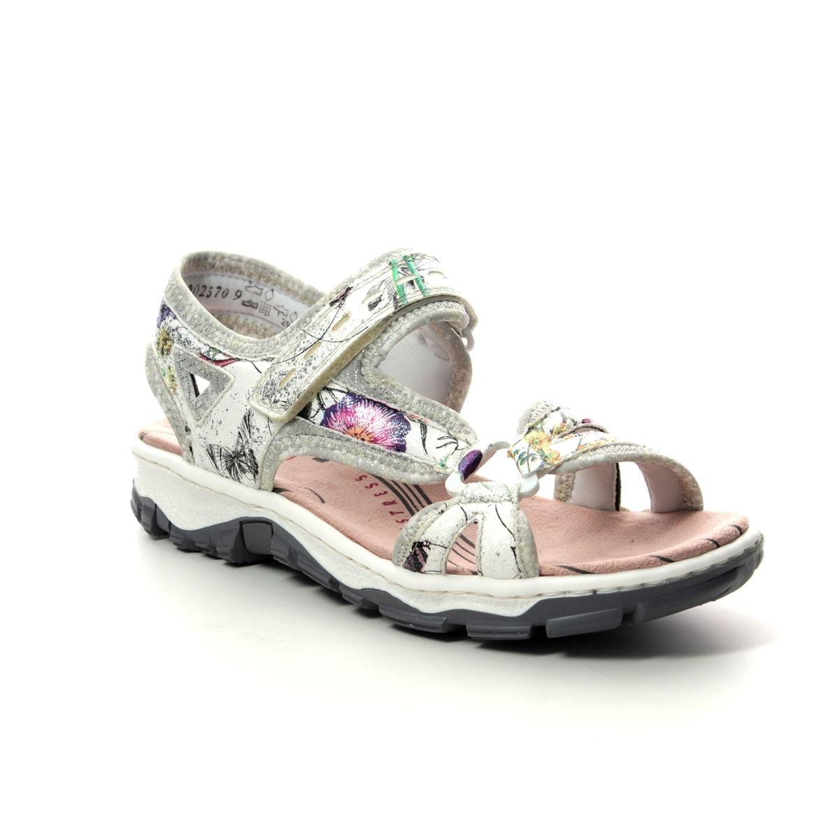 31486b314f6d Rieker Walking Sandals - Floral print - 68879-90 BARRIER