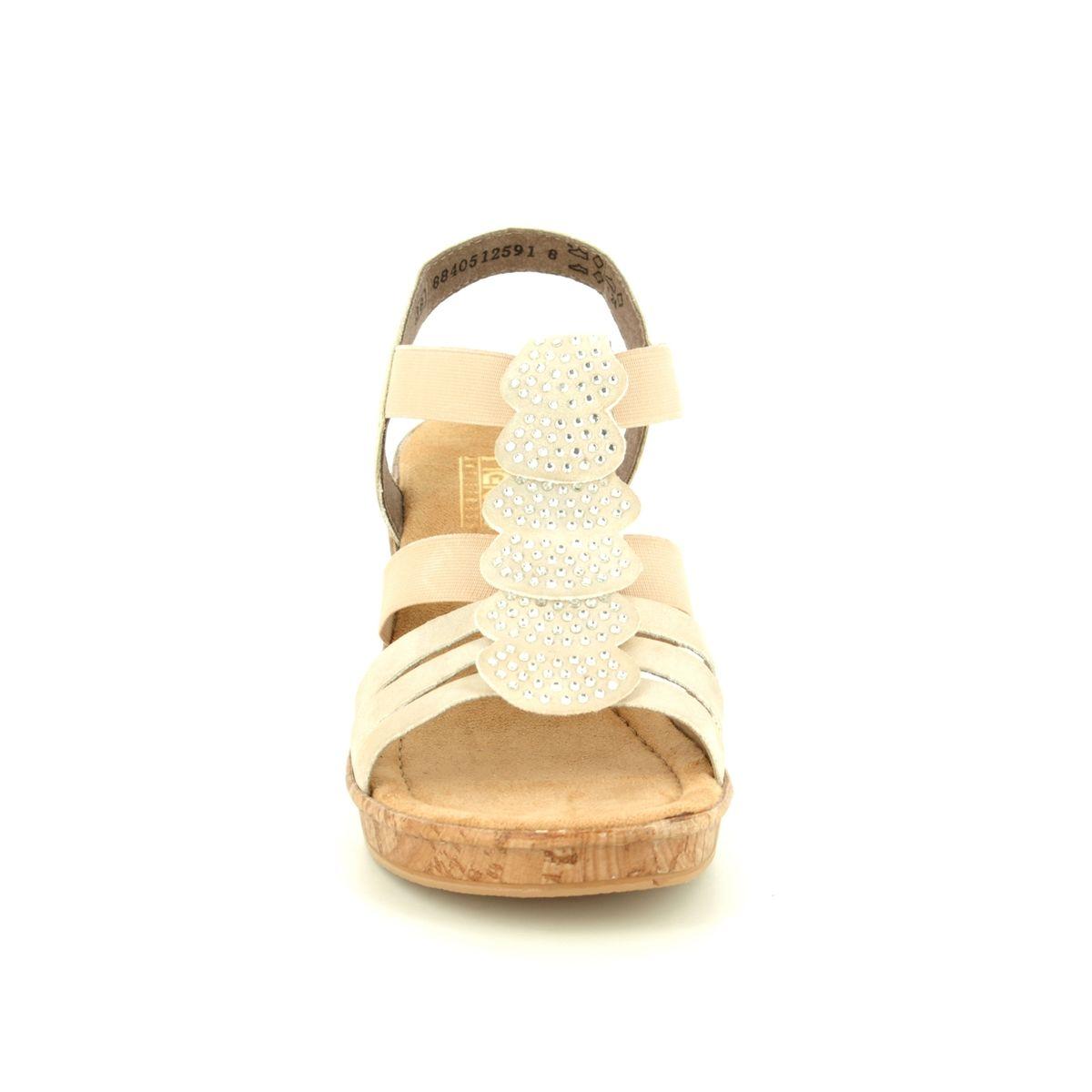 Rieker Sandals - Gold - 69702-60 ROBRUFFLE a2580ced34
