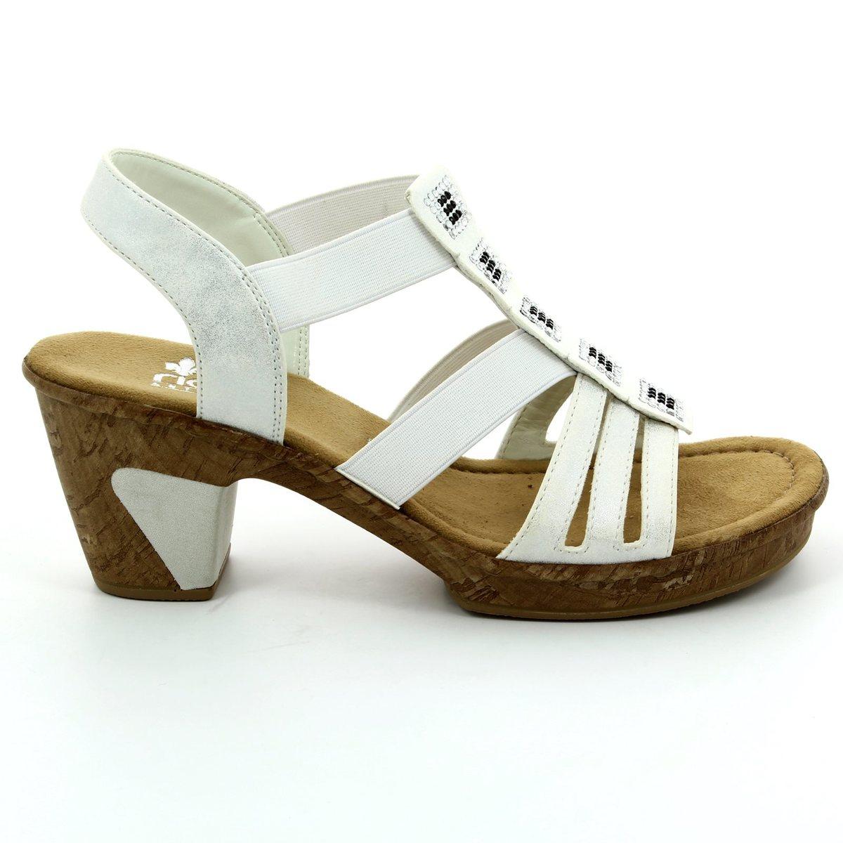 32e22e719d1c9 Rieker Heeled Sandals - Off white - 69761-80 ROBSQUARE