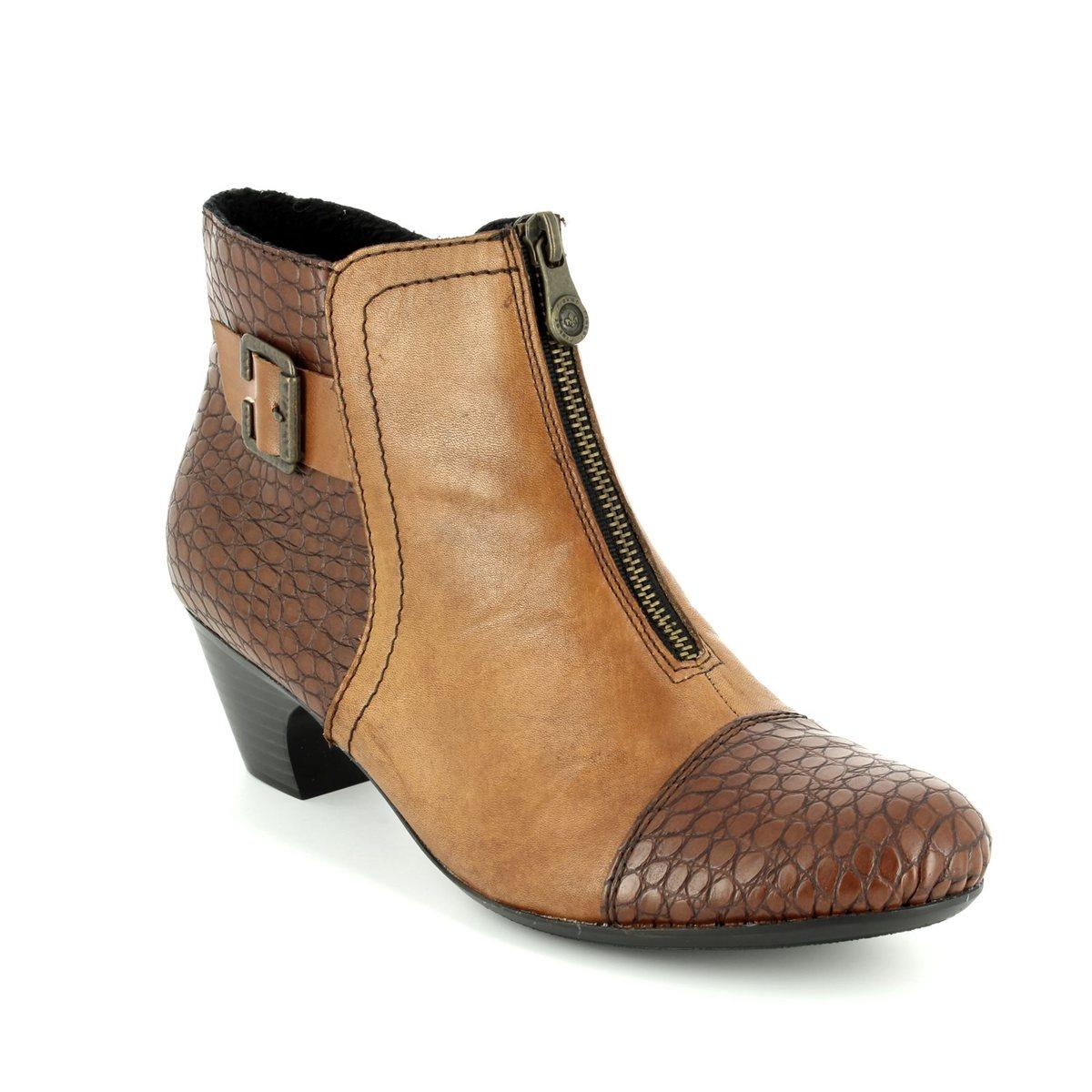 85d4cd04d7445 Rieker Ankle Boots - Tan multi - 70581-25 SARAZI