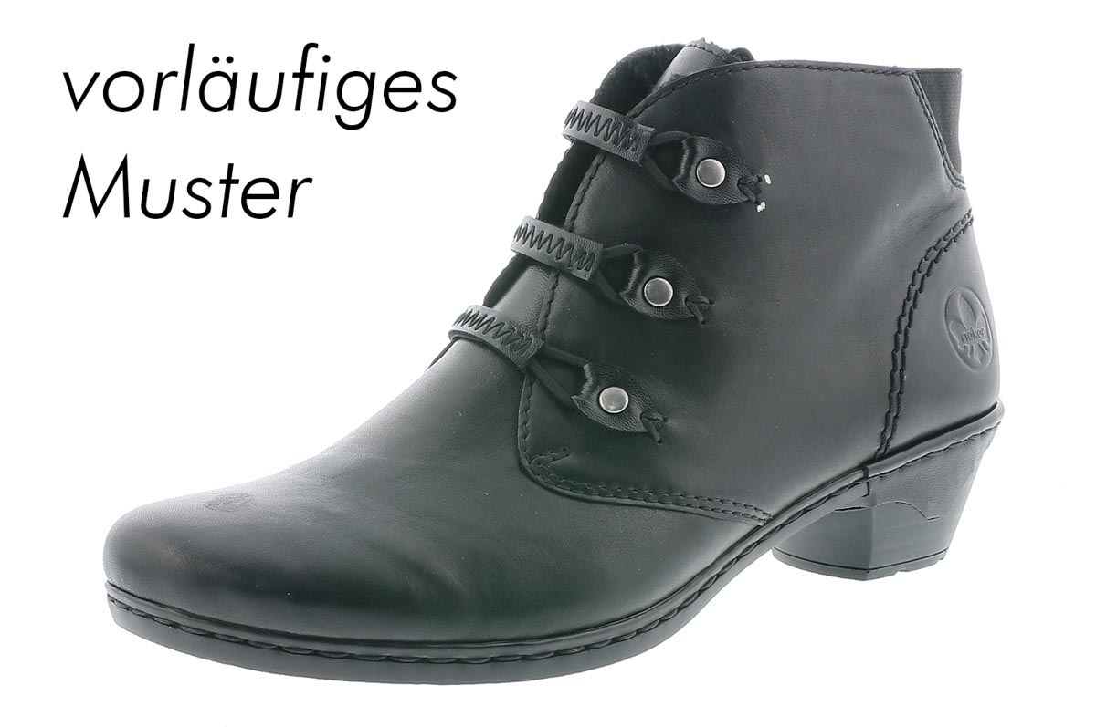 b19ef7cc4c6 Rieker Ankle Boots - Black leather - 76984-00 LYNN