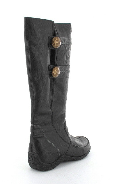 Rieker 79970 01 Black Long Boots