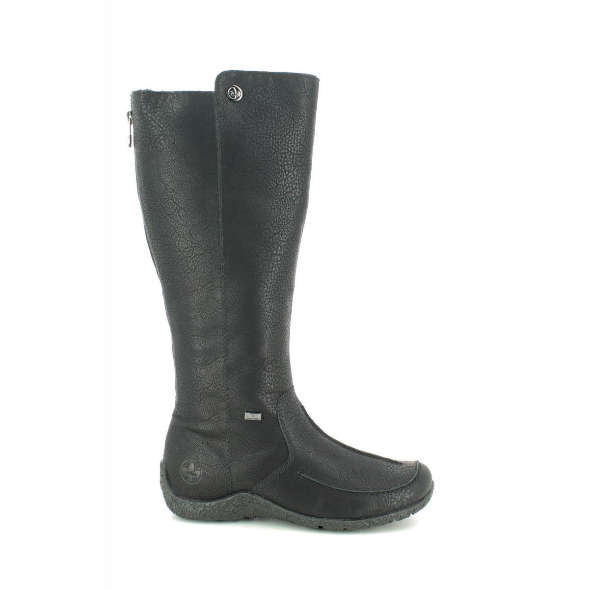 Rieker 79990-00 Black knee-high boots