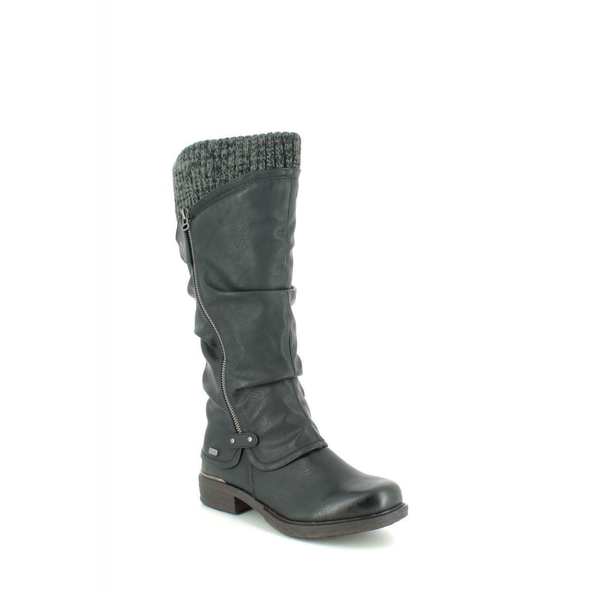 Rieker 98956-00 Black knee-high boots