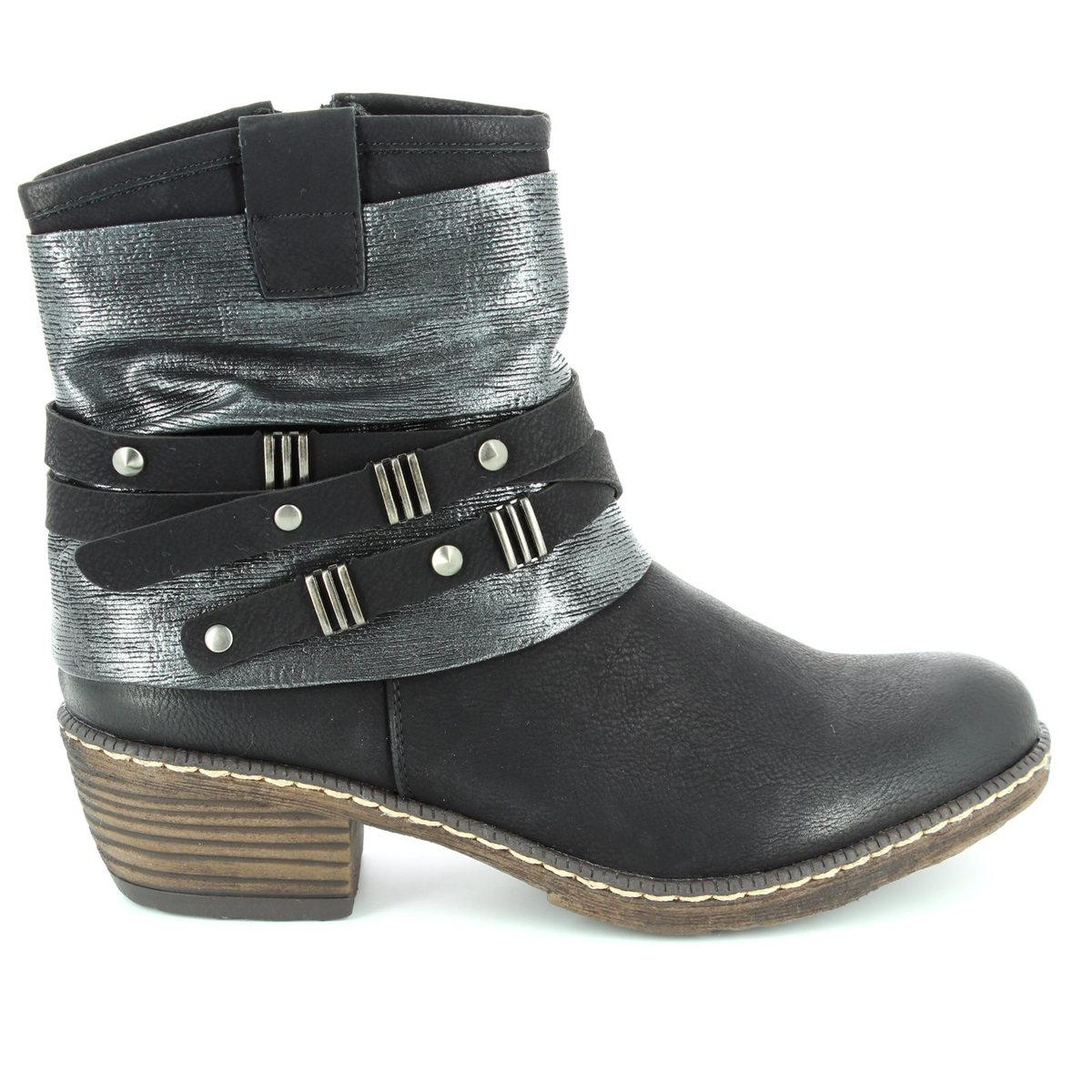 e7ff4b4a8f0ab Rieker Boots - Black - K1483-01 BERNASTRA