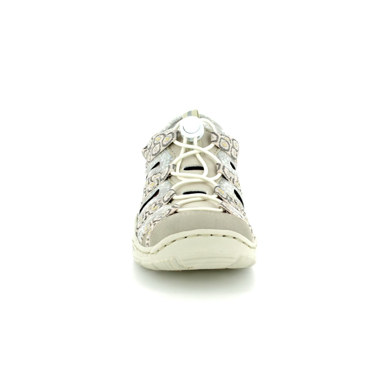 cb8b70ce4c9b Rieker Closed Toe Sandals - Beige multi - L0577-60 JEERSY