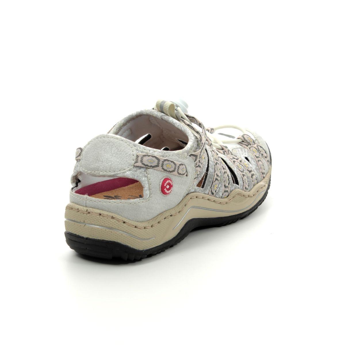ed2f30be352d Rieker Closed Toe Sandals - Off-white - L0577-80 JEERSY