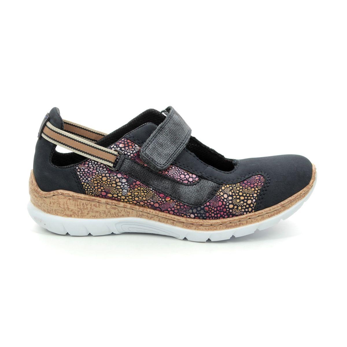 561f57d0d5 Rieker Mary Jane Shoes - Navy multi - N42R8-14 EMPIFLOBAR