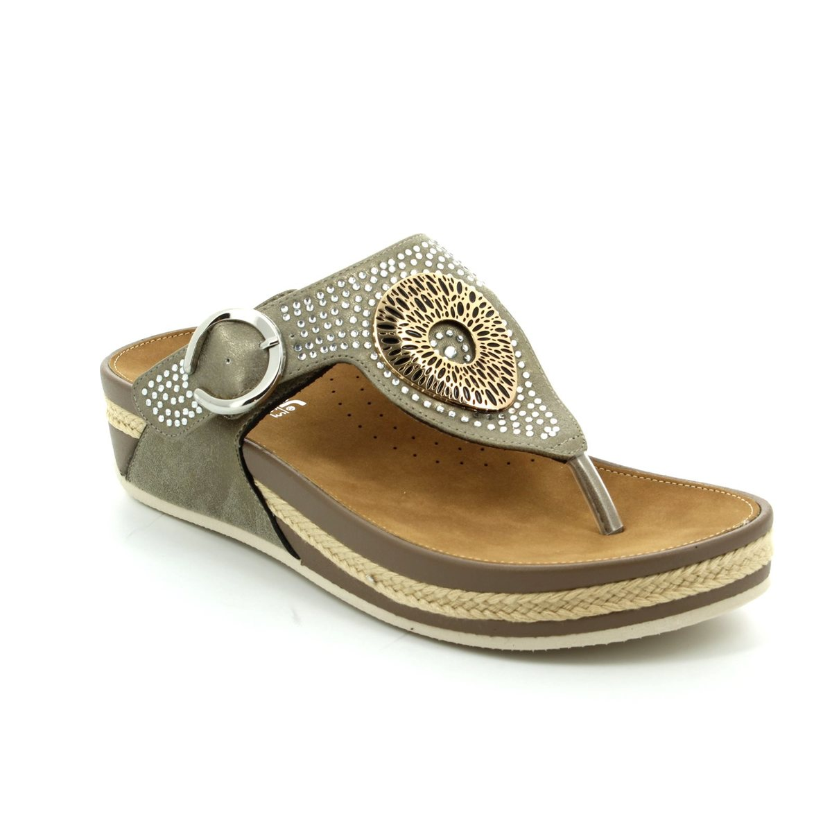025e9f7434 Rieker Sandals - Metallic - V1460-62 LULU