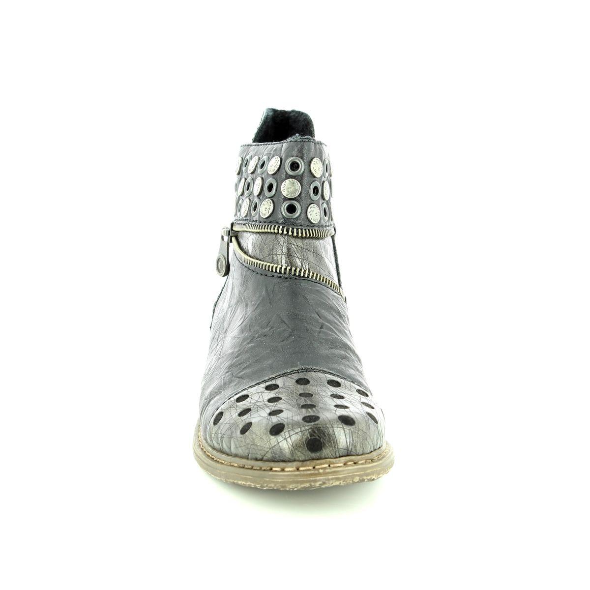 Rieker Z2163 90 Black multi ankle boots