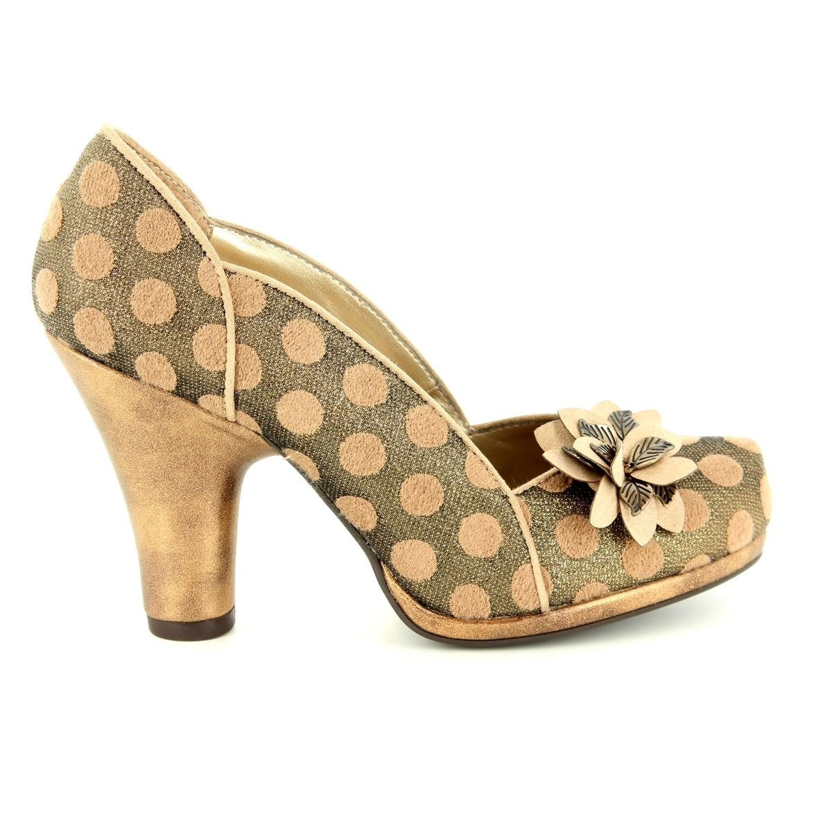 Ruby Shoo Charlie Gold Womens Hi Heels Shoes