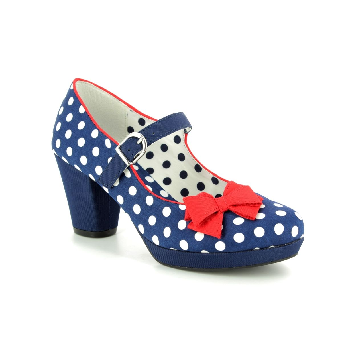 d5283a7ff2a931 Ruby Shoo High-heeled Shoes - Navy Spot - 09224/70 CRYSTAL
