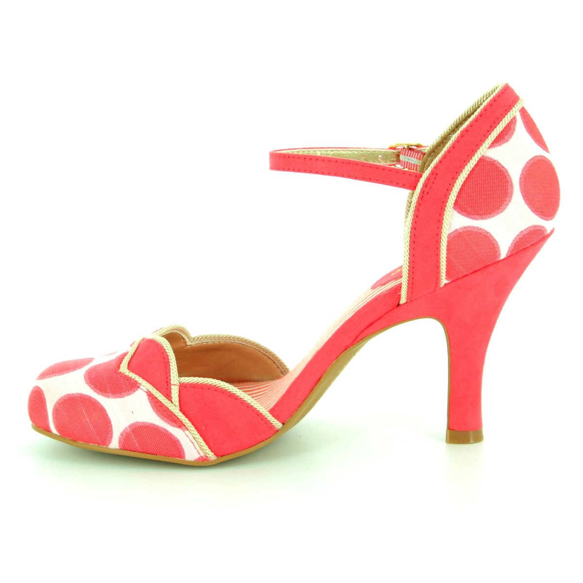 9fb549eb4d85 Ruby Shoo Phoebe 09176-85 Coral pink high-heeled shoes