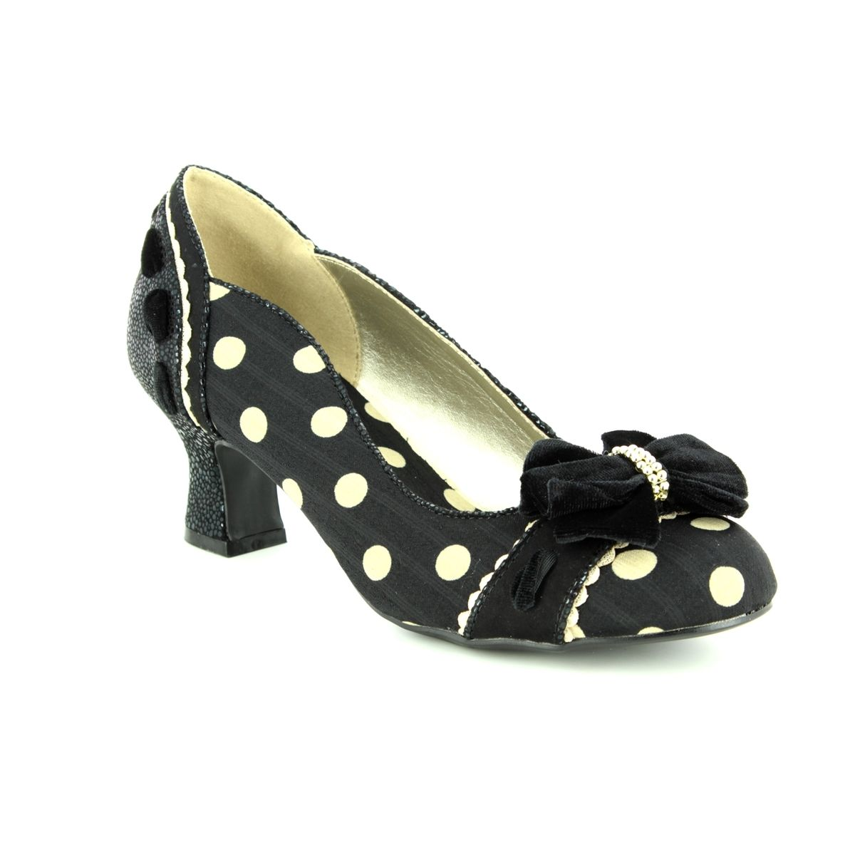 7c8551a73a1f8d Ruby Shoo Heeled Shoes - Black Spots - 09220/32 RHEA