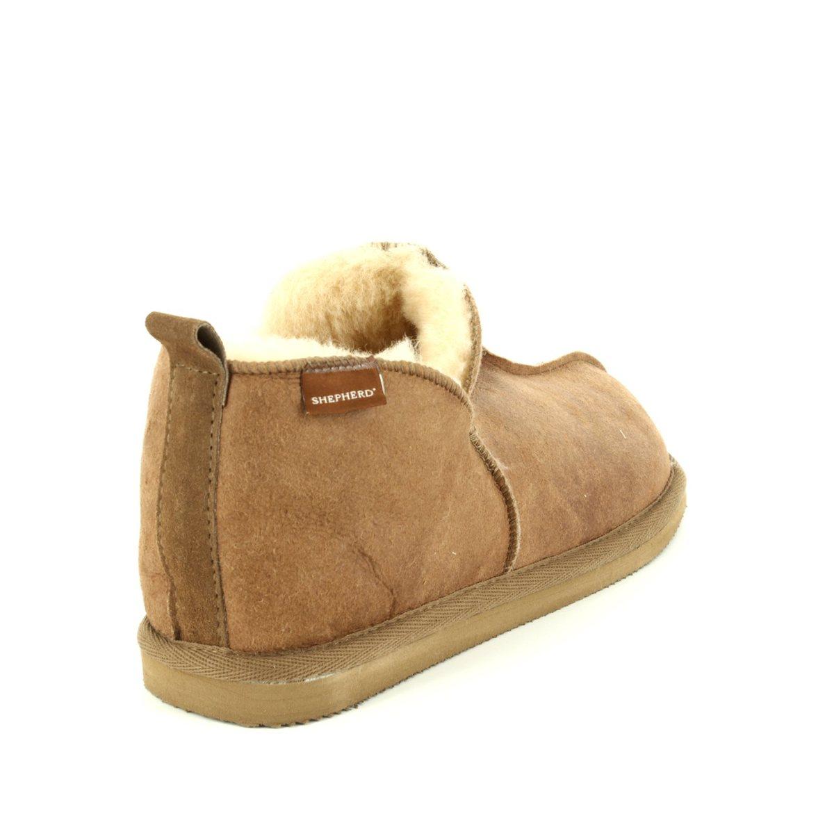 57d8bea3e2e2 Shepherd of Sweden Slippers - Tan Leather - 492252 ANNIE