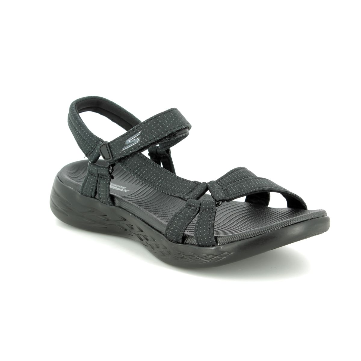 5057797bb8d7 Skechers Brilliancy 15316 BBK Black Walking Sandals
