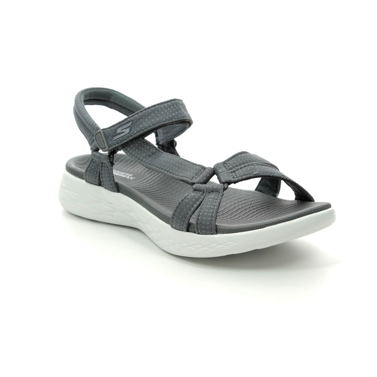 5e68c857c387 Skechers Brilliancy 15316 CHAR Charcoal Walking Sandals