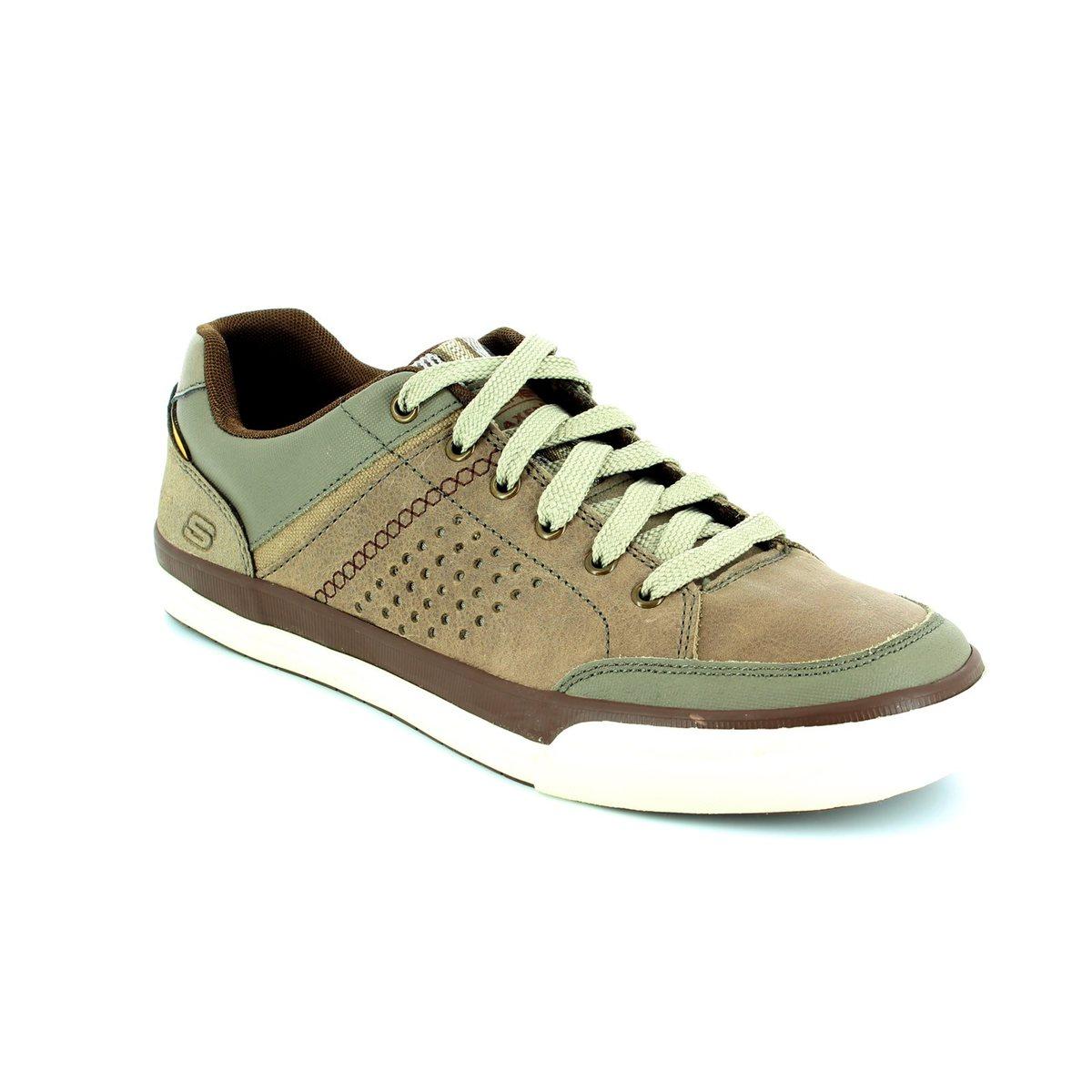 d916aa06c14b Skechers Diamondback 64666 TPE Taupe fashion shoes