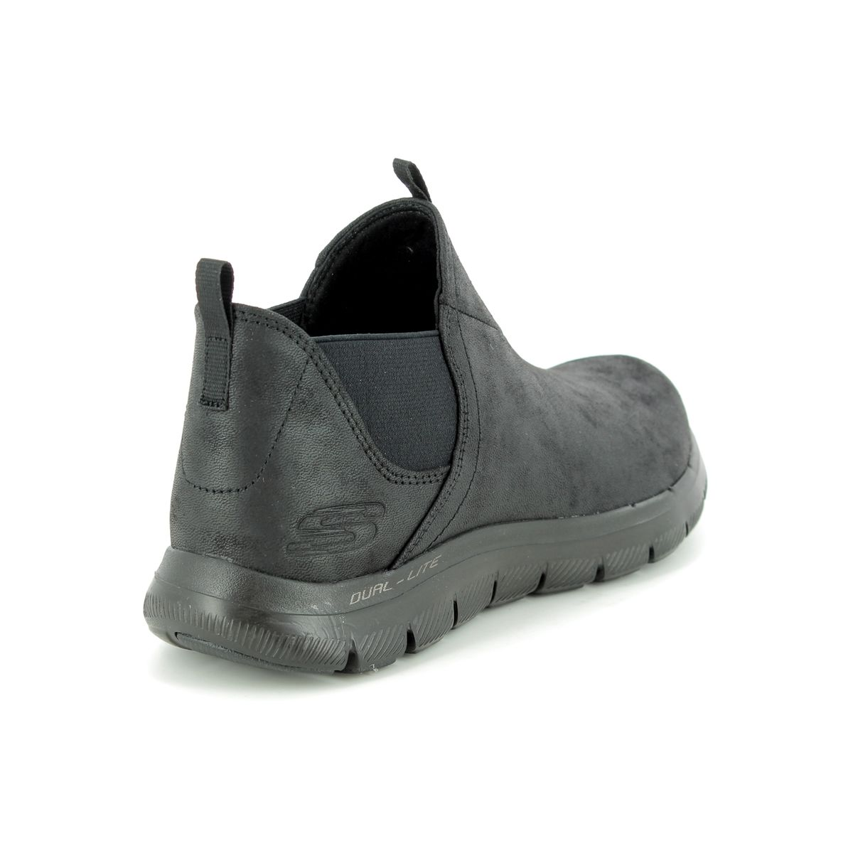 814b07db2a Skechers Done Deal 12769 BBK Black ankle boots