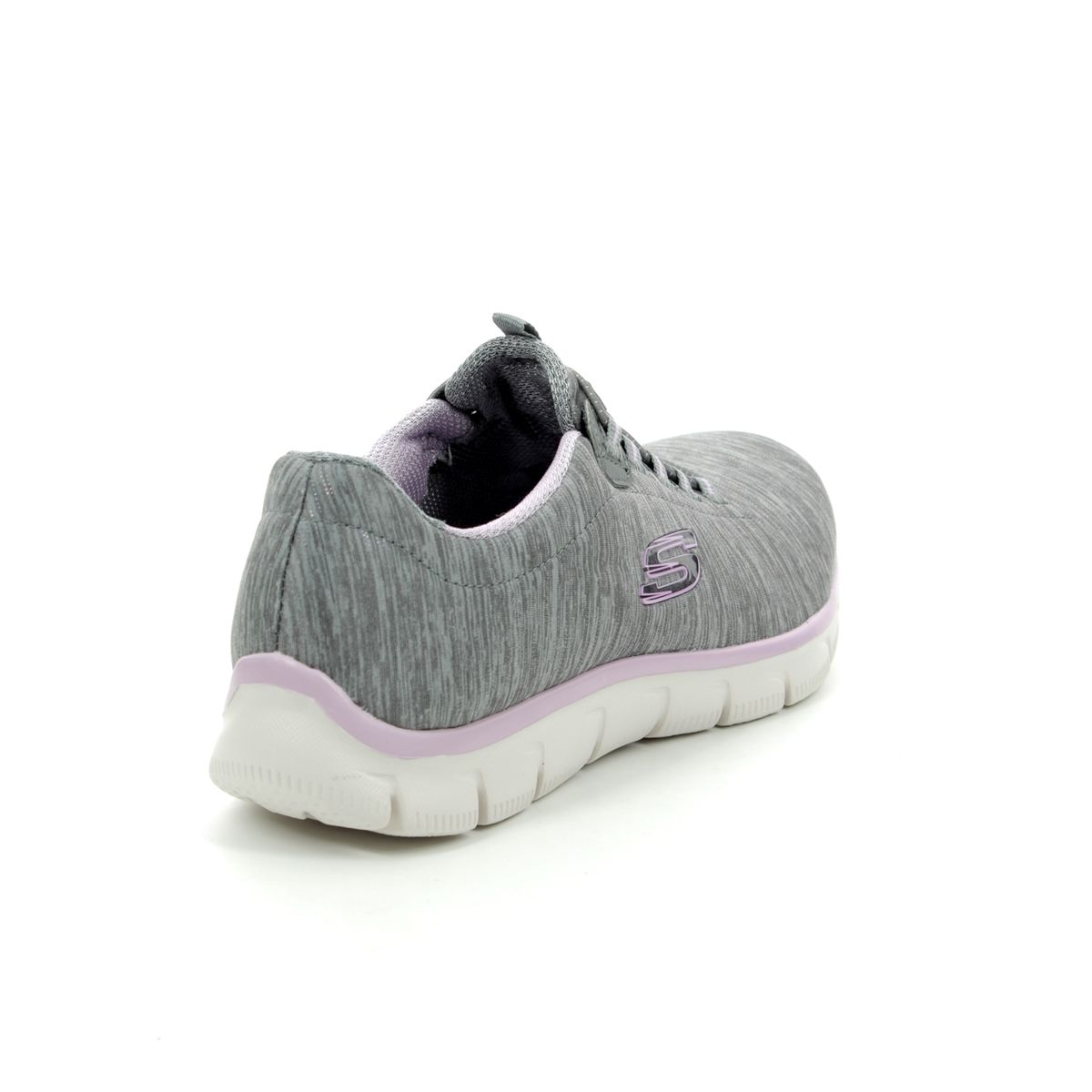 b57e70dc76b Skechers Empire See Ya 12808 GYLV Grey - lavender trainers