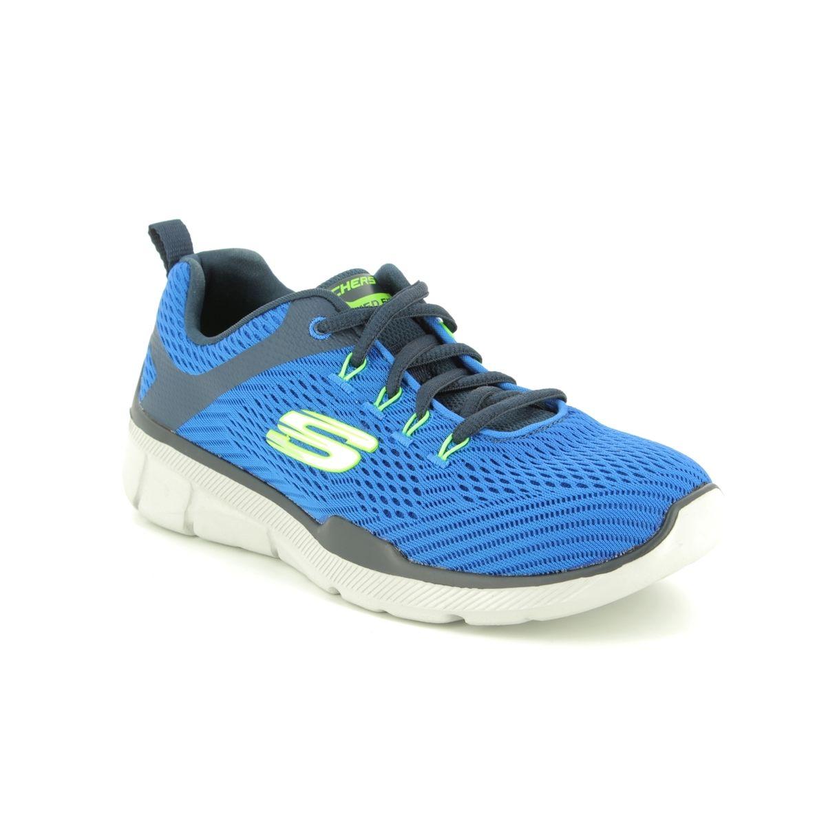 Details zu Skechers Equalizer 3.0 Herren Air Cooled Sneaker Trainer Memory Foam blau
