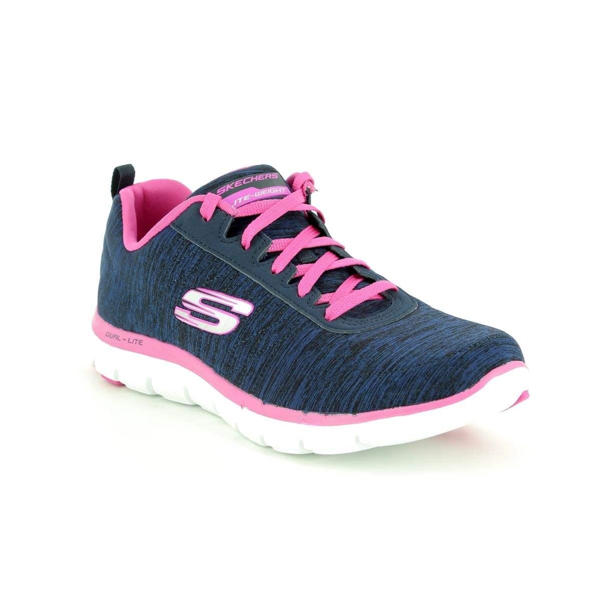 c0a89fb6f47 Skechers Flex Appeal 2 12753 NVPK Navy-Pink trainers