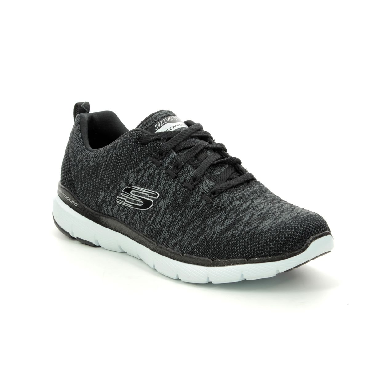 d115c78a4aaa Skechers Flex Appeal 3 13062 BKW Black-white trainers