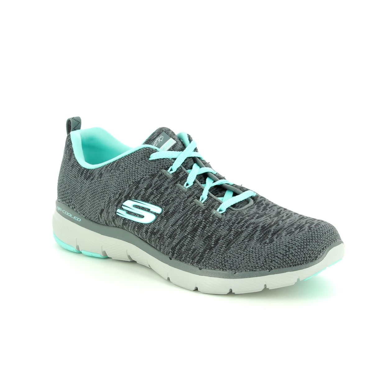905e060b00d Skechers Flex Appeal 3 13062 CCLB Charcoal trainers