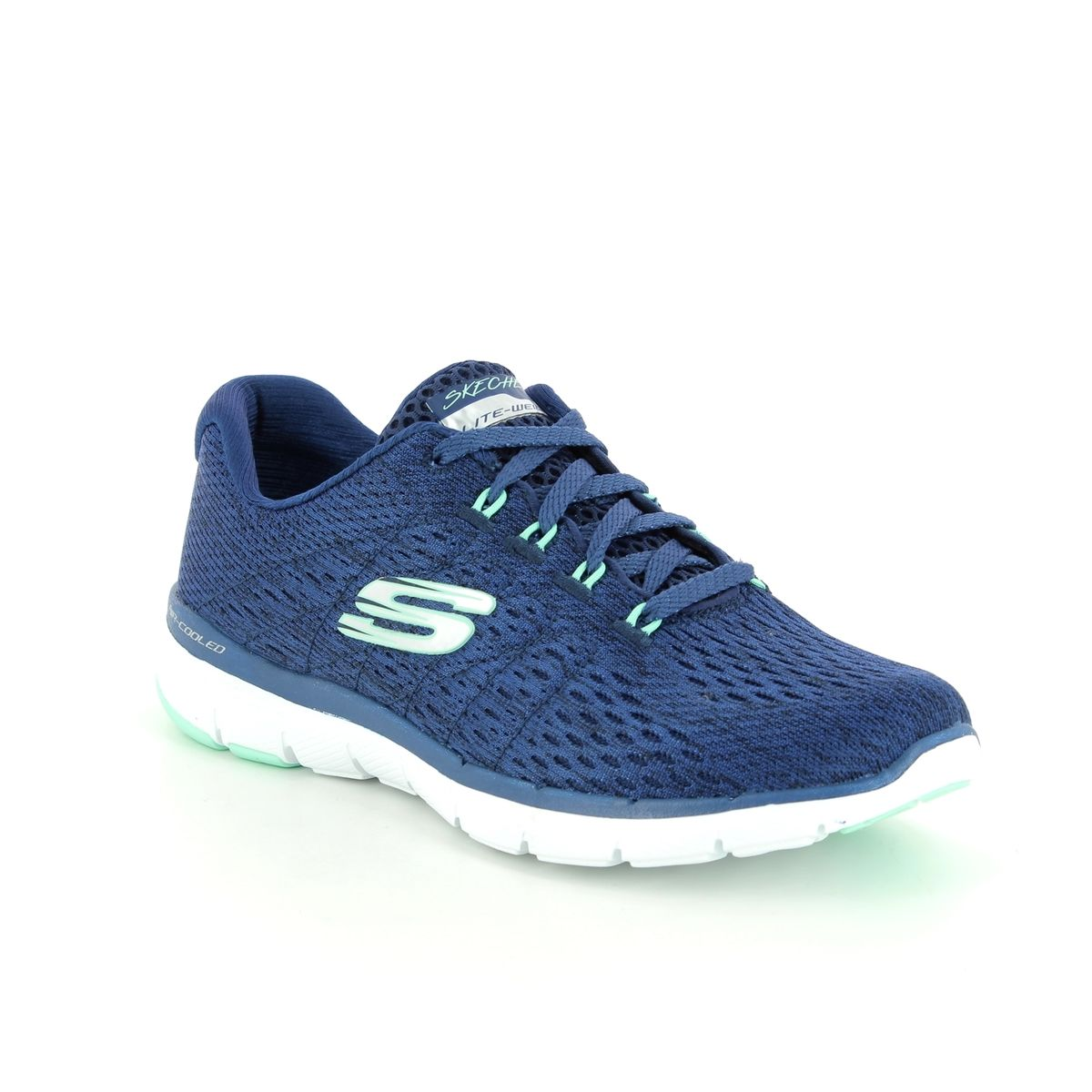 37581c3acb3 Skechers Flex Appeal 3 13064 NVGR Navy trainers