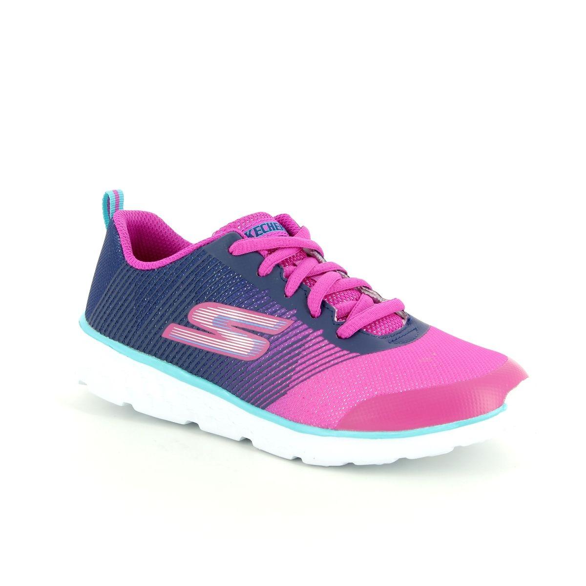 fdb0c5046a7f Skechers Go Run 400 81353 NVPK Navy-Pink trainers