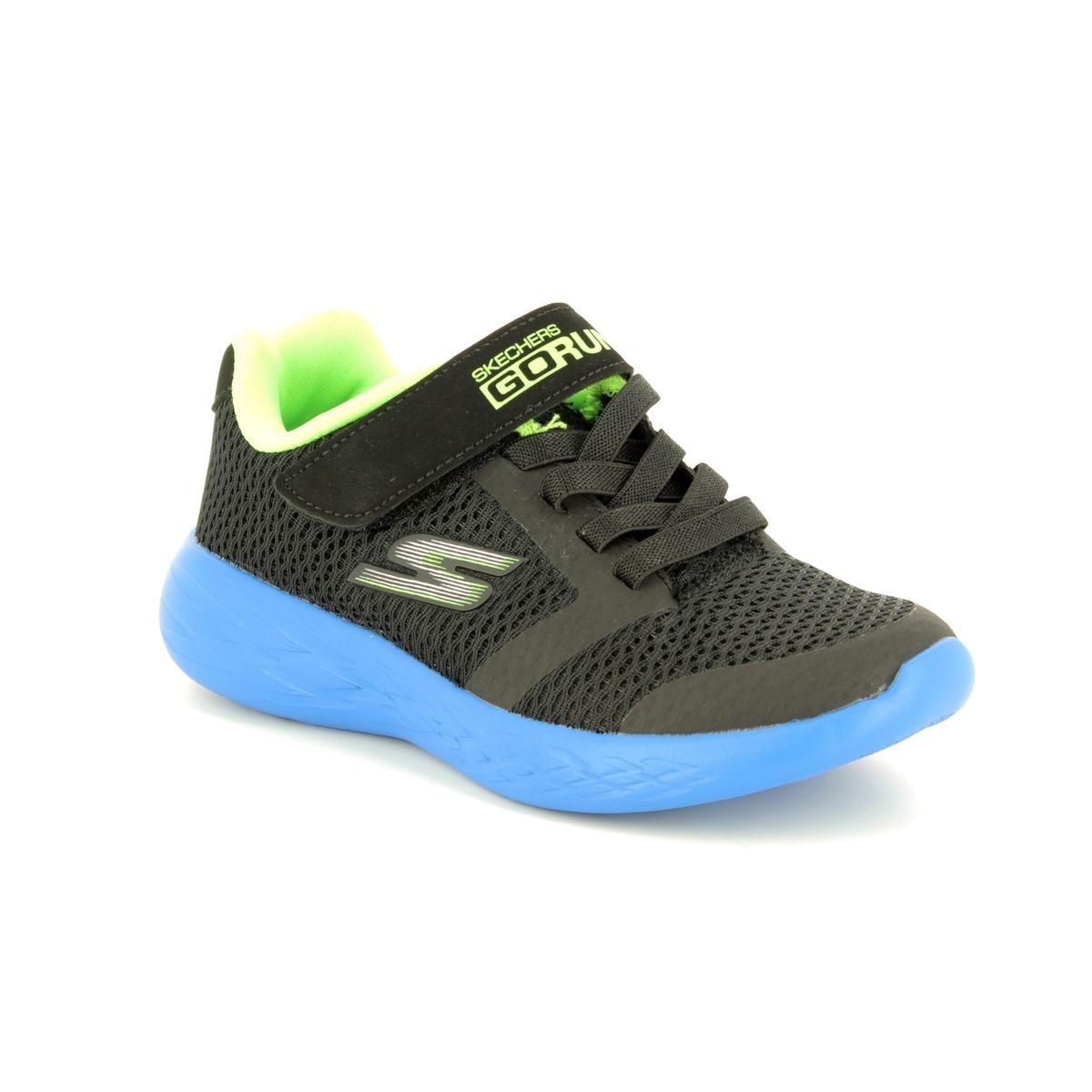 40412109e341 Skechers Go Run 600 97860 BBLM Black - blue trainers