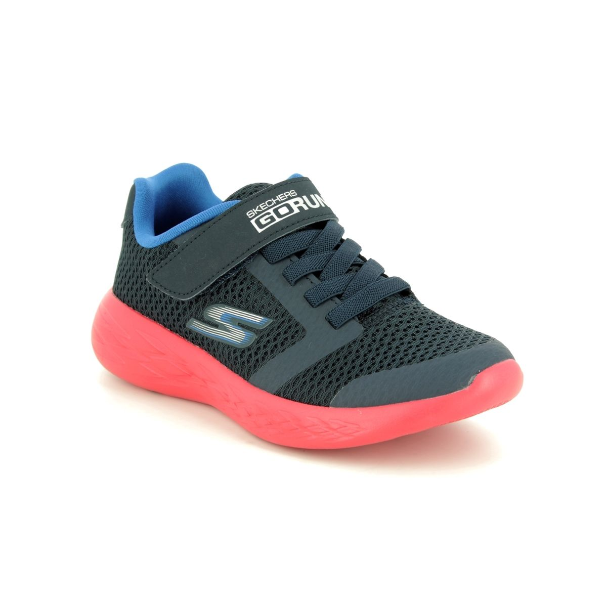 Skechers Go Run 600 Roxlo Boys Black Trainer