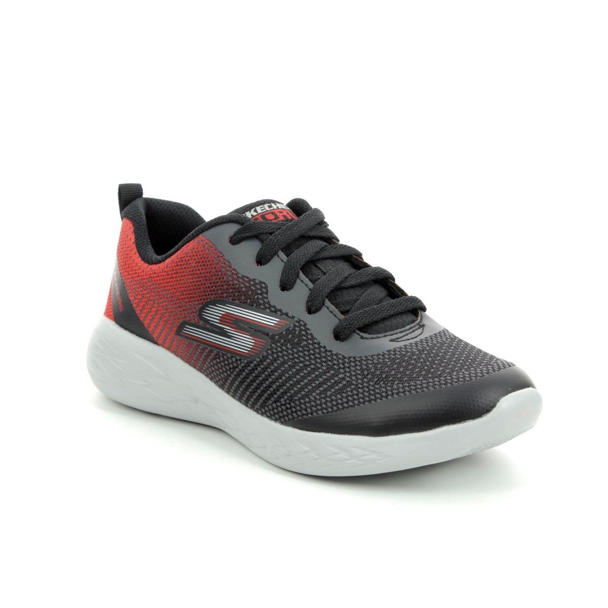 ae04c8f2643e Skechers Go Run 600 Lace 97866 BKRD Black-red combi trainers
