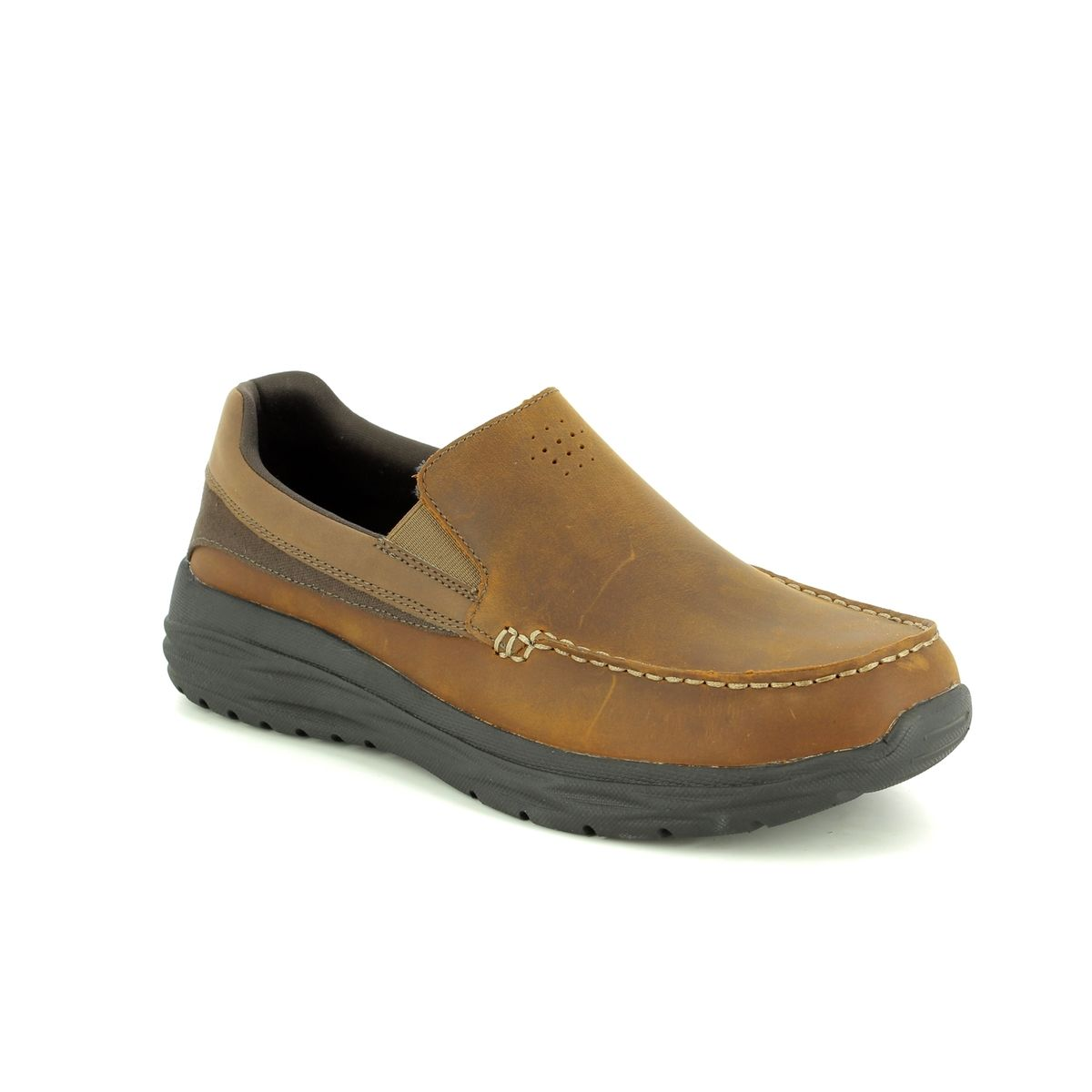 e04c11415ed Skechers Harsen Ortego 65620 CDB Brown casual shoes